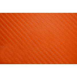 Фолио карбон 127см х 1м Оранжев