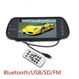 Огледало с цветен 7 инча LCD дисплей с USB вход и Bluetooth